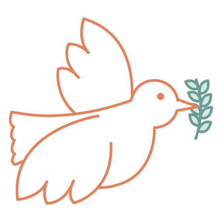 벡터 일러스트 레이 션 디자인 올리브 분기와 평화 비둘기