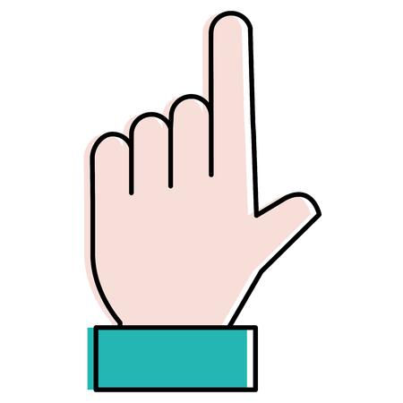 Hand menschliche Index Symbol Illustration Design