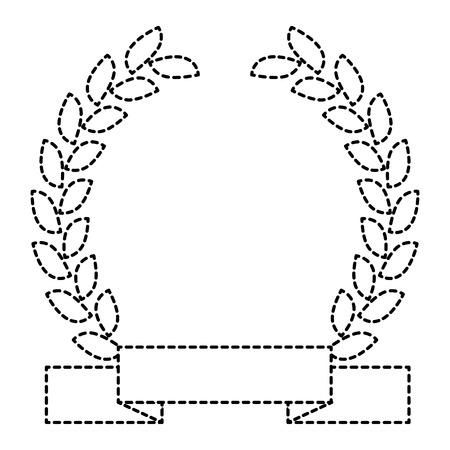 分離された王冠のアイコン ベクトル イラスト デザインを葉します。