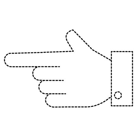 손을 인간의 인덱스 아이콘 벡터 일러스트 레이 션 디자인 일러스트
