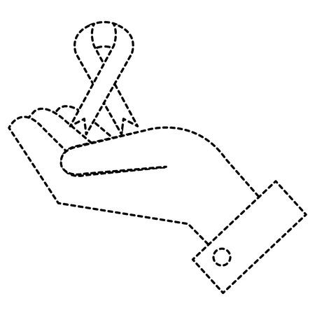 Mano con progettazione dell'illustrazione di vettore di campagna del nastro Archivio Fotografico - 91051734