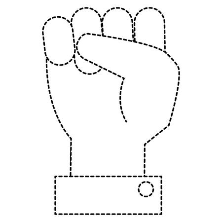 Poing jusqu & # 39 ; à main icône illustration vectorielle conception Banque d'images - 91051952