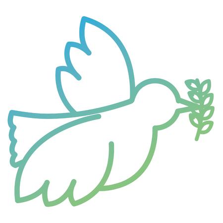平和のオリーブの枝ベクトル イラスト デザインと鳩
