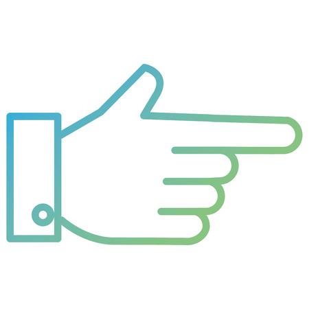 손을 인간의 인덱스 아이콘 벡터 일러스트 레이 션 디자인 스톡 콘텐츠 - 91053044