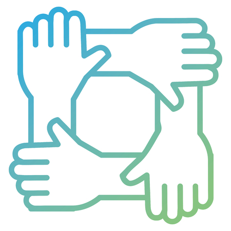 united teamwork hands icon vector illustration design Stock Vector - 91051131