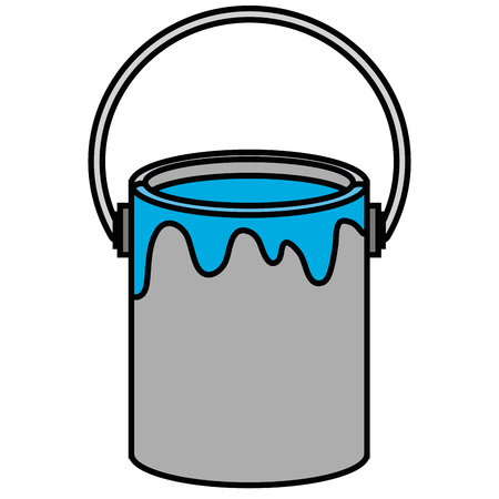 paint pot isolated icon vector illustration design Vectores