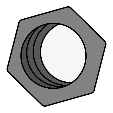 hexagonal nut isolated icon vector illustration design Иллюстрация