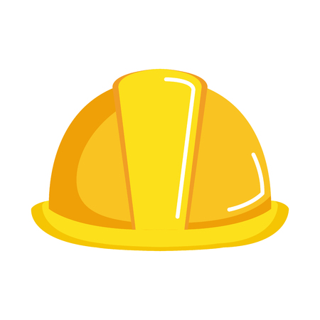 helmet construction isolated icon vector illustration design Illustration