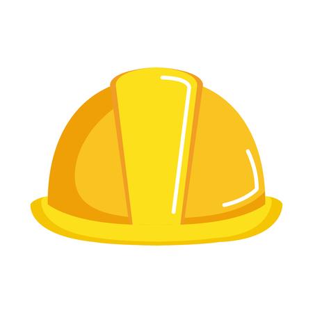 helmet construction isolated icon vector illustration design Stock Illustratie