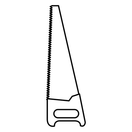 handzaag hulpmiddel geïsoleerd pictogram vector illustratie ontwerp