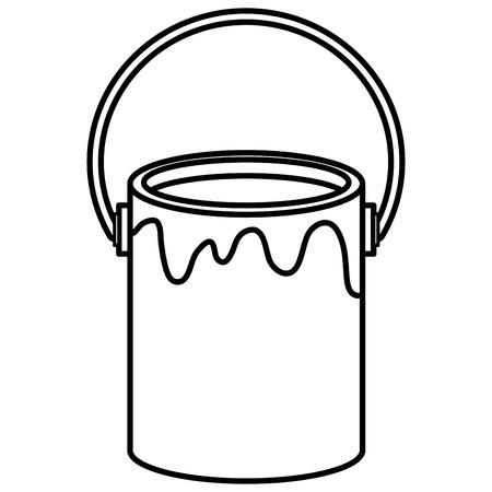 paint pot isolated icon vector illustration design 일러스트