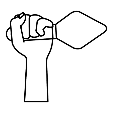 hand with spatula tool isolated icon vector illustration design