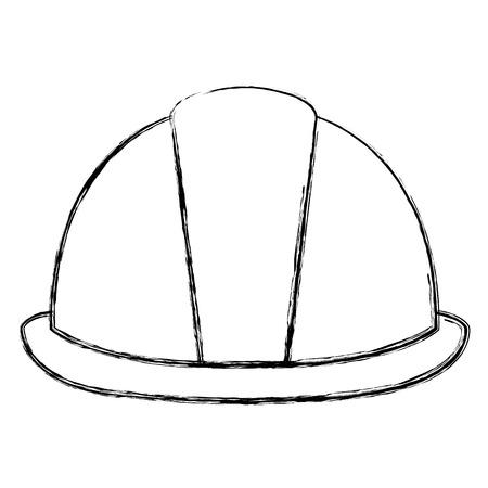 helmet construction isolated icon vector illustration design Ilustração