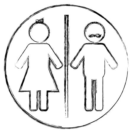 gender silhouette human icon vector illustration design
