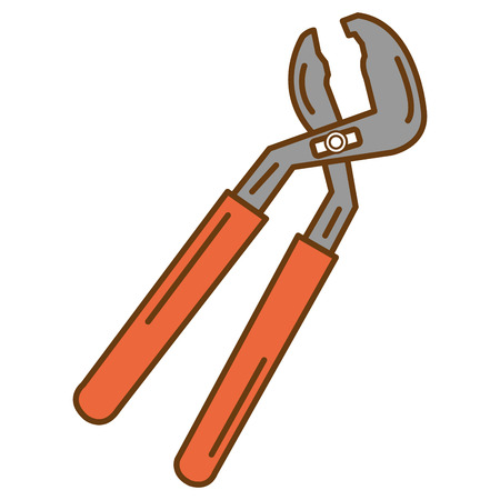 Clamp tool isolated icon. Illustration