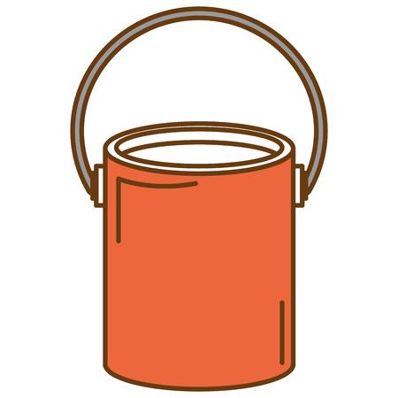 Pinte la ilustración aislada del vector del icono del pote Foto de archivo - 91055001