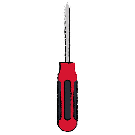 Screwdriver tool isolated vector illustration Imagens - 91055812