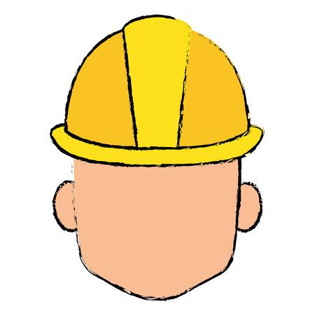 ヘルメット免震建設アイコン ベクトル イラスト デザイン ヘッド  イラスト・ベクター素材