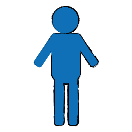 gender male silhouette human icon vector illustration design