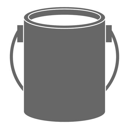 Pot de peinture isolé icône du design d & # 39 ; illustration vectorielle Banque d'images - 91074128