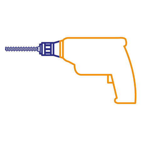 drill electric tool isolated icon vector illustration design