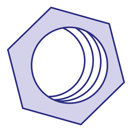 hexagonal nut isolated icon vector illustration design Stock Vector - 91074232
