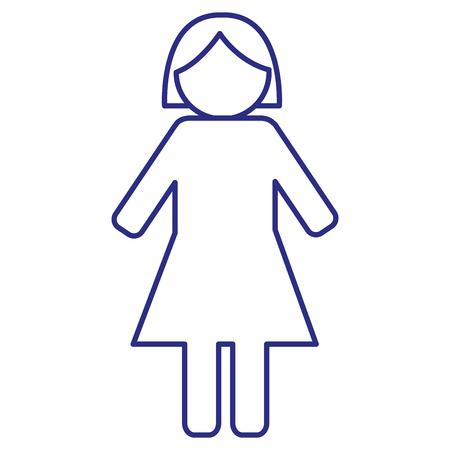 gender female silhouette human icon vector illustration design Illustration