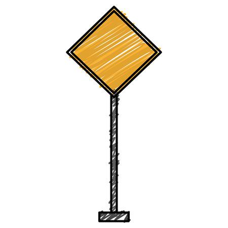 Construction caution signal icon vector illustration design. Illustration