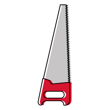 handsaw tool isolated icon vector illustration design Stock Vector - 91074272
