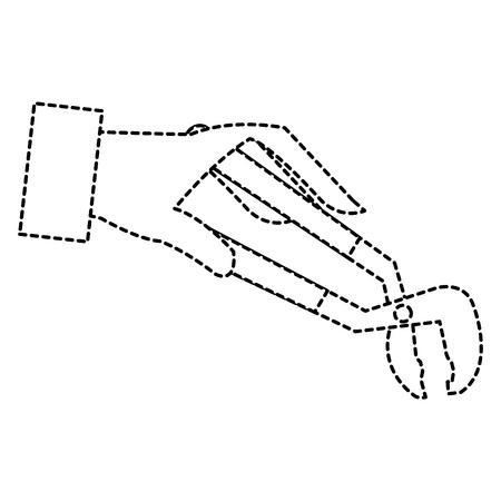 クランプ絶縁ツール アイコン ベクトル イラスト デザインを手します。