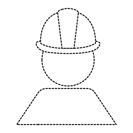 worker with helmet construction isolated icon vector illustration design
