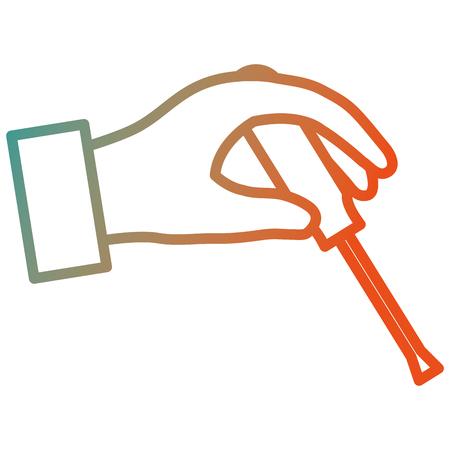 hand with screwdriver tool vector illustration design Illusztráció
