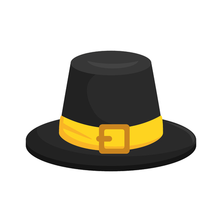 Thanksgiving hat isolated icon. Çizim