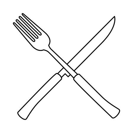 フォークとナイフ カトラリー ツール アイコン ベクトル イラスト デザイン  イラスト・ベクター素材