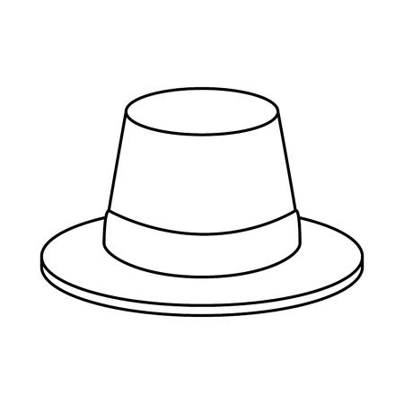 pictogram van de het pictogram vectorillustratie van de dankzegging de hoed geïsoleerde Stock Illustratie