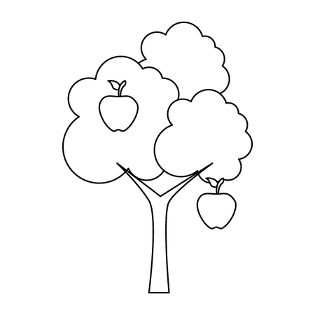 apple tree isolated icon vector illustration design