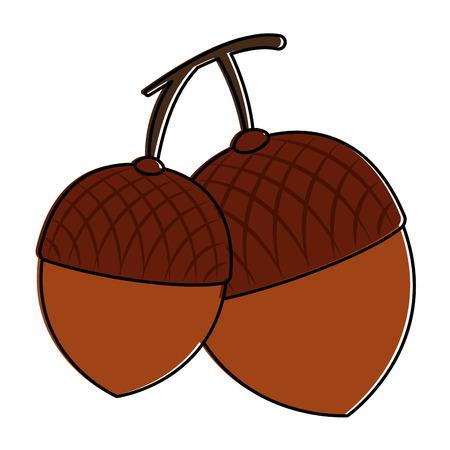 Het pictogramontwerp van notenvruchten geïsoleerd pictogram Stockfoto - 91076350