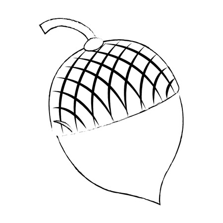 Un diseño de ilustración de vector de icono de frutas de frutos secos aislado Foto de archivo - 91076501