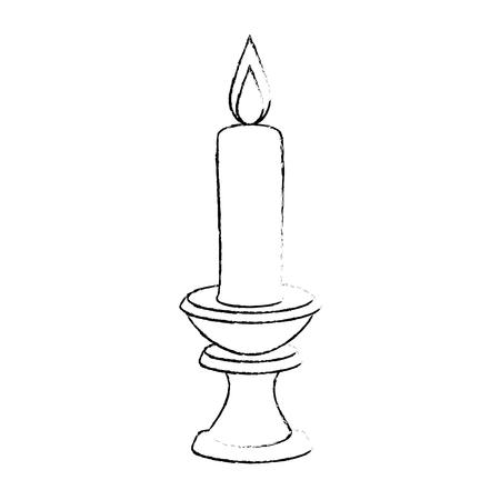 パラフィンろうそく燭台ベクトル イラスト デザインの  イラスト・ベクター素材