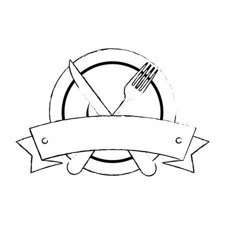Définir des outils de coutellerie en coupe vector illustration design Banque d'images - 91090397