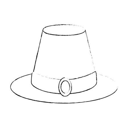 感謝祭の帽子アイコン ベクトル イラスト デザインを分離しました。