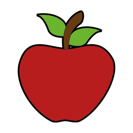アップル新鮮な isoloated のアイコン ベクトル イラスト デザイン