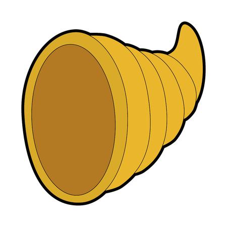thanksgiving horn isolated icon vector illustration design Illustration