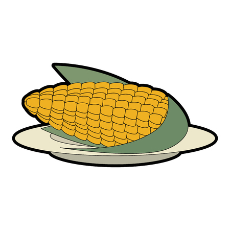 corn fresh isolated icon vector illustration design Illusztráció