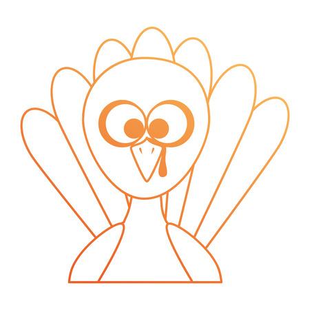 추수 감사절 칠면조 문자 아이콘 일러스트 디자인 스톡 콘텐츠 - 91084252