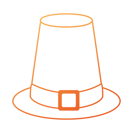Thanksgiving hat isolated icon  illustration design