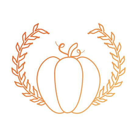 pumpkin fresh with crown vector illustration design Illustration