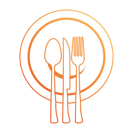 Set of cutlery tools icon illustration design