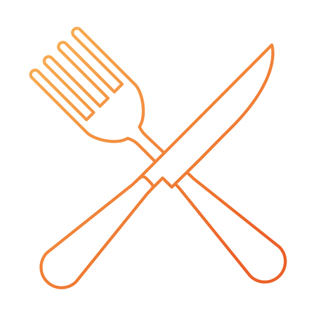 fork and knife cutlery tool icon vector illustration design