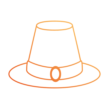Thanksgiving hat isolated icon vector illustration design